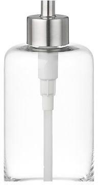 Crate & Barrel Glass Soap Dispenser