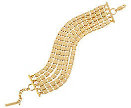 Kenneth Cole Goldtone Square Link Multi Chain Bracelet