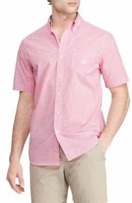Chaps Big Tall Short-Sleeve Button-Down Shirt