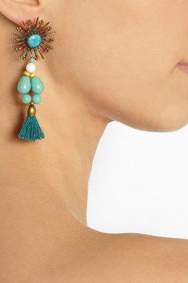 Isabel Marant Kayapo gold-tone howlite earrings