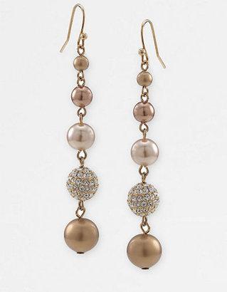 Carolee Linear Faux Pearl Earrings