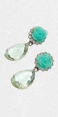 eDressMe Rose Garden Glass Drop Earrings by All The Rage