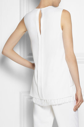 ADAM by Adam Lippes Fringed crepe top