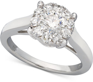Diamond Engagement Ring in 14k White Gold (1-1/2 ct. t.w.)