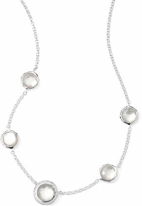 """Ippolita Stella Necklace in Mother-of-Pearl Doublet & Diamonds 16-18"""""""
