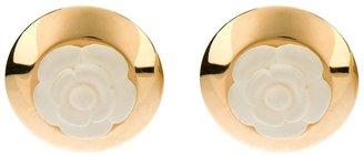 Chanel flower clip-on earrings