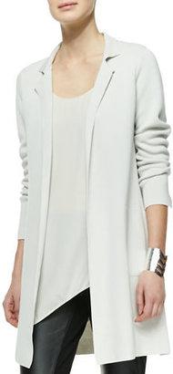 Eileen Fisher Silk-Cotton Interlock Long Drama Jacket $398 thestylecure.com