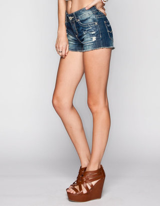 Almost Famous Womens Highwaisted Denim Cutoff Shorts