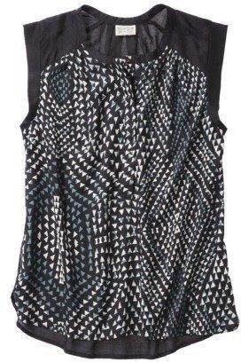 Converse One Star® Women's Cap Sleeve Knickerbocker Print Top - Black