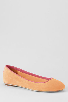 Lands' End Women's Lila Piped Ballet Shoes