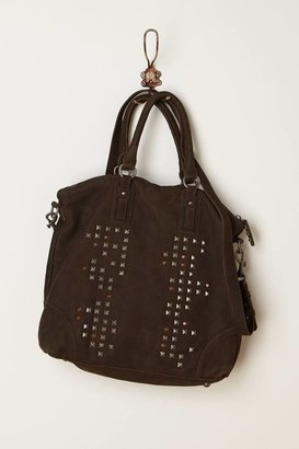 Anthropologie Studded Canvas Tote