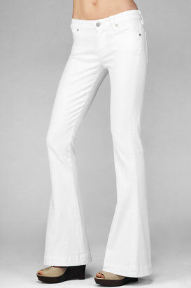 7 For All Mankind Jiselle Phenomenal Slim Fit Flare In Clean White