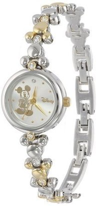 Disney Mickey Mouse Women's MCK313 Two-Tone Link Bracelet Watch $36.99 thestylecure.com