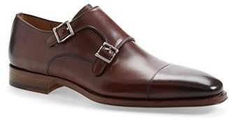 Men's Magnanni 'Cortillas' Double Monk Strap Leather Shoe $325 thestylecure.com