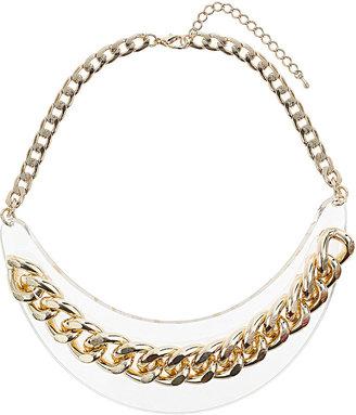 Topshop Acrylic Plaque Chain Necklace