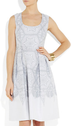 Jonathan Saunders Cecille cotton and silk-blend dress
