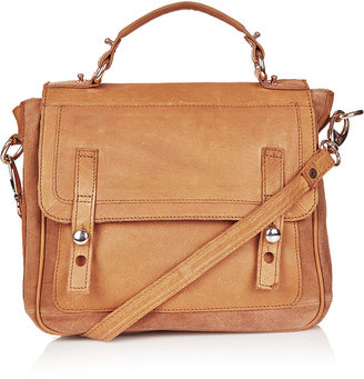 Topshop Suede And Leather Satchel