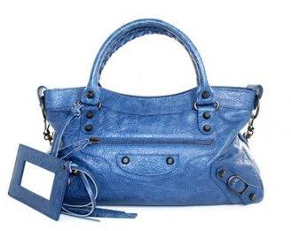 Balenciaga excellent (EX Cobalt Blue Lambskin Classic First Arena Bag