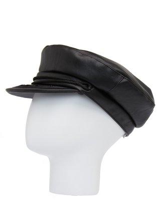 MANGO Leather effect visor cap
