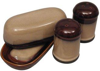 Sango nova brown 4-pc. hostess set