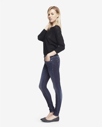 Express Faded Dark Mid Rise Jean Legging
