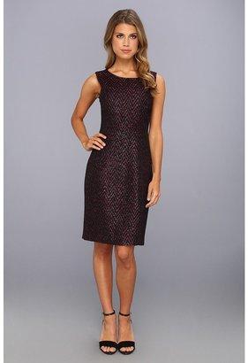 Elie Tahari Estelle Dress (Black/Pink Multi) - Apparel