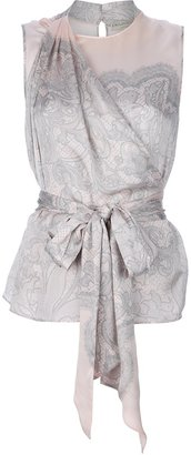 Emilio Pucci brocade pussy bow blouse