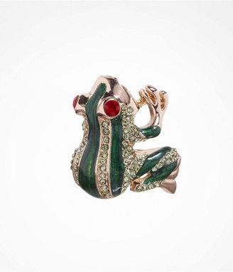 Express Enameled Frog Ring