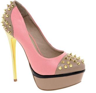 Kurt Geiger Esme Leather Pink Platform Shoes