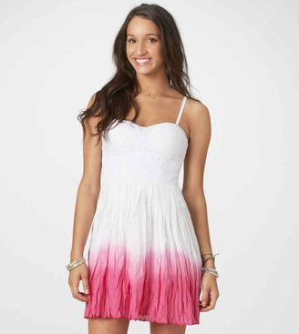 American Eagle AE Dip-Dyed Corset Dress