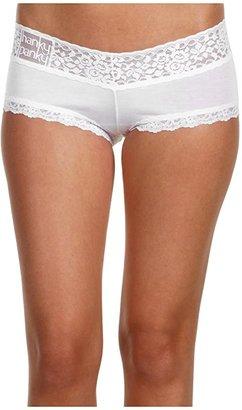 Hanky Panky Logo To Go V-Front Boyshort (White) Women's Underwear