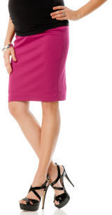 A Pea in the Pod Secret Fit Belly® Knee Length Pencil Fit Maternity Skirt