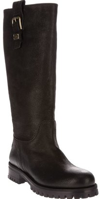 Dolce & Gabbana buckled knee boots