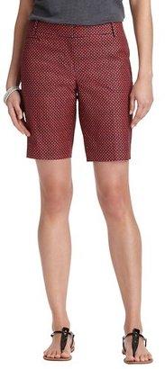 """LOFT Marisa Mini Jewel Print Stretch Cotton Walking Shorts with 10"""" Inseam"""