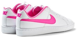 Nike White and Pink Court Royale Trainers