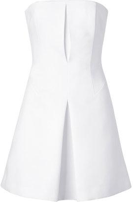 Hakaan White stretch Datur Bustier Dress