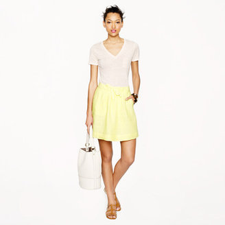 J.Crew Boardwalk linen skirt
