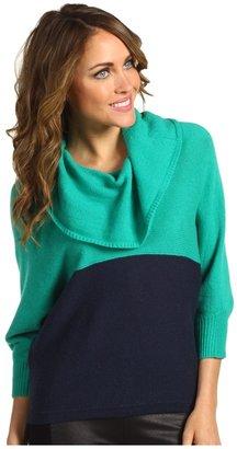 BCBGMAXAZRIA Hudson Sweater (Emerald Combo) - Apparel