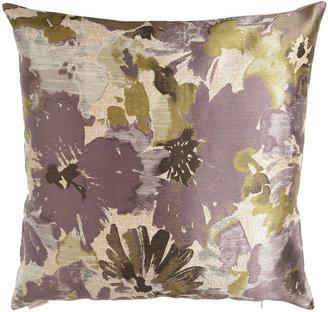 Horchow Purple Floral & Striped Pillow Group