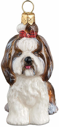 Shih Joy to the World Tzu Top Knot Brown & White Pet Charity Ornament