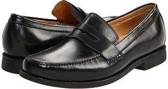 Johnston & Murphy Ainsworth Penny Loafer (Black Veal) Men's Slip-on Dress Shoes