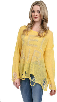 Wildfox Couture Bel Air Lennon Sweater in Happy Face