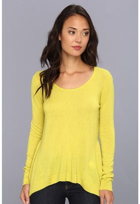 C&C California Cashmere Blend L/S Side Gusset (Citronelle) - Apparel