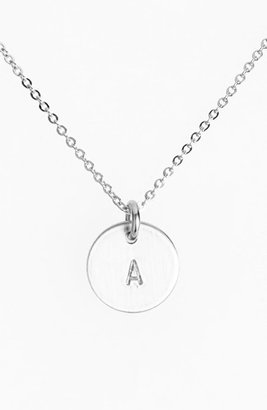 Women's Nashelle Sterling Silver Initial Mini Disc Necklace $60 thestylecure.com