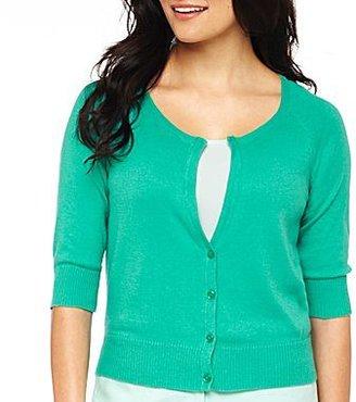 JCPenney Worthington® Y-Neck Cardigan Sweater - Petite