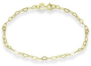 Giani Bernini 18K Gold over Sterling Silver Heart Chain Ankle Bracelet, also available in Sterling Silver, Created for Macy's