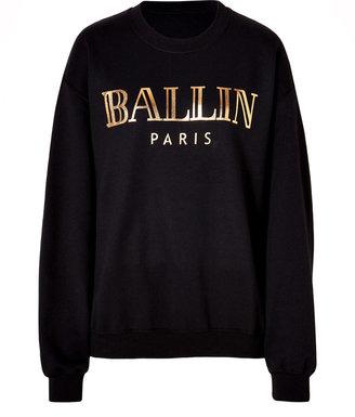 Ballin Brian Lichtenberg Cotton Blend Sweatshirt in Black/Gold