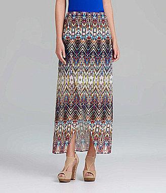 Gianni Bini Mari Tribal-Print Maxi Skirt