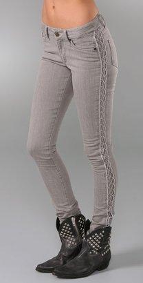 Superfine Side Stripe Skinny Jeans
