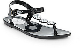 Stuart Weitzman Girl's Rhinestone T-Strap Sandals